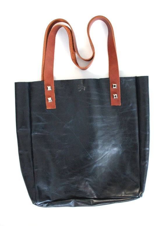 leather tote chic tote simple leather bag simple tote bag