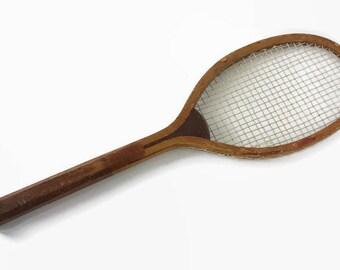 Antique Wright Ditson Tennis Racket The Park, Vintage Tennis Racquet, c1930