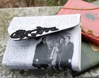 Sherlock Holmes Irene Adler Literary Decoupage Clutch Purse Handbag
