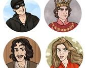 Princess Bride 1 inch button - Fantasy - Buttercup Westley Inigo Prince Humperdinck