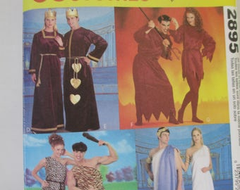 McCalls M 2895 Sewing paper pattern  adult couples costume  pattern size  (xsm-sm-med-lg-xlg) uncut