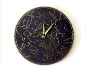 Wall Clock, Constellation Clock, Trending Wall Art, Astrology, Astronomy, Home and Living, Home Decor, Decor & Housewares