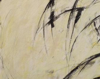 1-6-17a  (abstract expressionist painting, black, pastel, white, ivory, cream)