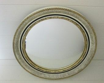 Atsonea Round Convex Mirror~Gilded~Original 1940s~Vintage Mirror