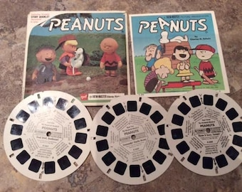 View-Master Reels Peanuts Original Package from 1966 GAF ViewMaster Reels B536 Charlie Brown Snoopy