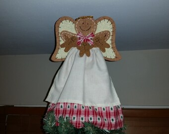 Christmas Tree Topper Gingerbread Angel