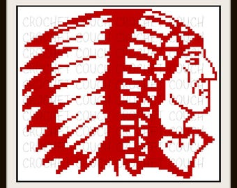 Indian Chief Afghan, C2C Graph, Crochet Pattern