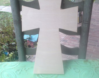 Unfinished Wooden Cross Style E, Unpainted Wood Cross, Do It Yourself Cross, Wood Shapes
