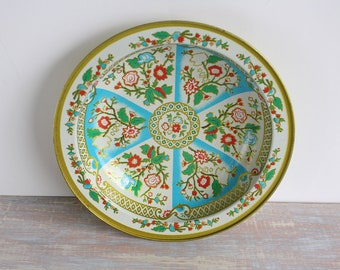 Boho style tin bowl- Free Shipping