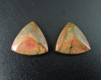 Pair of cherry creek jasper , Earring set,  jewelry making supplies S7564