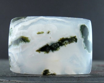 AAA Green moss Agate cabochon. Natural stone, Jewelry making supplies S7600