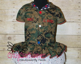 Patriotic Dress, (All Branches) Military Dress dress, Toddler, Military inspired dress, welcome home outfit, military, Military pageant