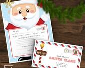 INSTANT DOWNLOAD Letter to Santa Kit - Including wishlist and Santa envelope