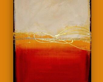 "Art Painting - Acrylic, Ora Birenbaum Art, Abstract Painting Original Art on Canvas Titled: Sunburst 24x36x1.5"""