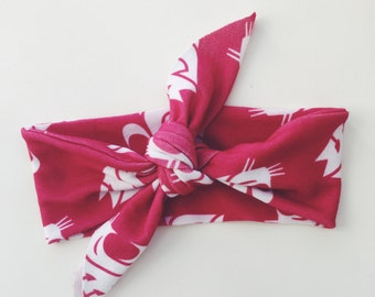 WSU COUGAR Childrens Knotted Headbands - Crimson Gray