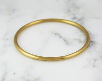 3.25mm Solid 22k Gold Bangle Bracelet - Simple Gold Bracelet - 3mm Bangle