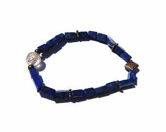 Lapis Lazuli & Citrine Healing Stone Bracelet