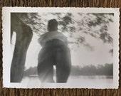 Original Vintage Photograph Rear View