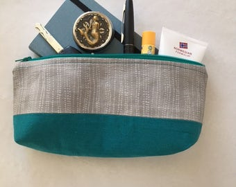 Zippered Pouch Toiletry Bag Purse Organizer