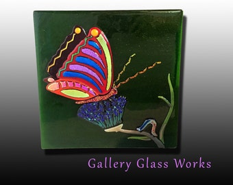 """Caterpillar to Butterfly """"Changes"""" - Fused Glass"""