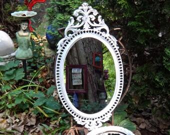 Mirror, LARGE Mirror, Baroque, Oval Mirror, White Mirror, Regency, Hollywood Glam, CasaKarmaDecor, Ornate Mirror, Cottage, Shabby Chic