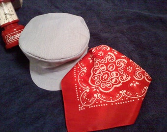 Train Hat and  Red bandanna