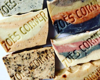 Six soaps for Thirty Dollars -You Choose- sls free and all natural