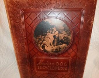 "Leatherbound ""Modern Dog Encyclopedia"""