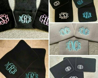 Sale  Monogrammed car mats embroidered not vinyl Great graduation gift