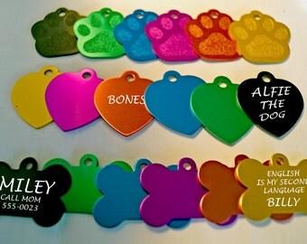 Pet identity tags, pet name tags, pet accessories, personalized pet supplies, pet identity tag, cat id tag, dog bone, paw, custom pet id tag
