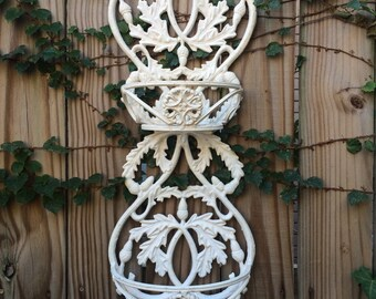 Vintage Cast Iron Wall Basket Cast Iron Plant Hanger Cast Iron Shelf