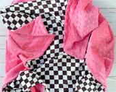 NASCAR Baby Blanket - Racing Flag Baby Blanket - Racing - Black and White Baby Blanket -  Baby Blanket - Baby Blankets - Minky Baby Blanket