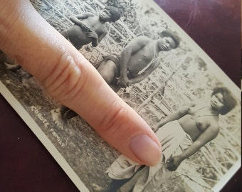 Corte Family Nudes in Philippines WWII 1920's Actual B&W photo