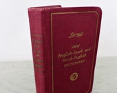 Vintage Dictionary - Divry's New English-Greek and Greek-English Handy Dictionary - 1944 - Pocket Dictionary