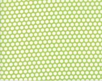 Bliss Dot Green Basics by Bonnie and Camille from Moda -1 yard