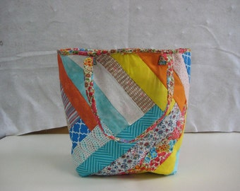 Strip Quilted Tote Bag