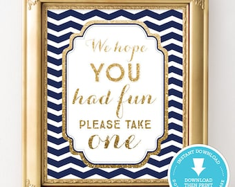 Baby Shower Sign - Navy and Gold shower sign - Bridal Shower Decor - baby shower decor - favor sign - Printable - Boy Baby Shower - Boy Baby