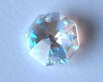 4 SWAROVSKI 8116 Octagon Crystal Beads 14mm CRYSTAL AB