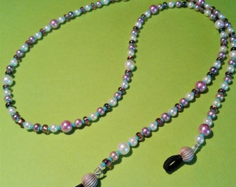EYE GLASS HOLDERS,beaded/pearls,seed beads,glass beads.wire strung