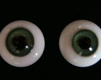 Beautiful 22mm Paperwaight Glass Eyes in Green, Blue Green, Blue and Brown