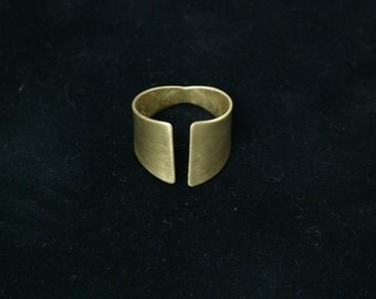ELIZABETH Ring | Gold Ring Band | Cuff Ring | Wrap Ring | Adjustable Ring | Unisex Rings | Brass, Bronze | Geometric Jewelry | Metalwork