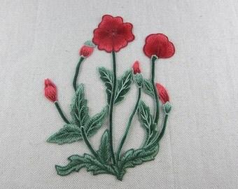 Elegant Embroidered Flower Appliques