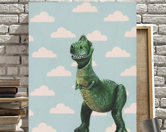 Canvas Print of Rex from Toy Story