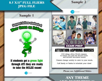 Medical Flyers, Medical Student Flyers, Student Services Custom Flyers, Custom Flyers, College flyers, 8.5x11
