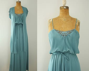 1970s maxi dress | vintage 70s dress and wrap