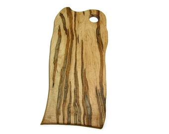 Ambrosia Maple Wood Cutting Board, Outstanding Grain Features, One of a Kind Piece