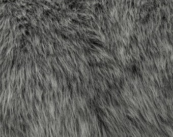 Fun Monkey Fur Grey Frost 60 Inches Fabric by the Yard, 1 yard