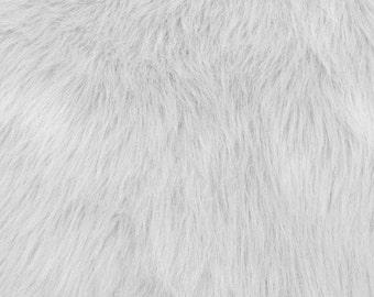 Fun Monkey Fur White 60 Inches Fabric by the Yard, 1 yard