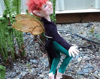 Puck, Garden fairy, fairie, leprechan, pixie elf OOAK