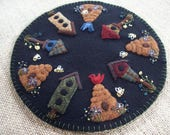 Bee Hives and Bird Houses Candle Mat